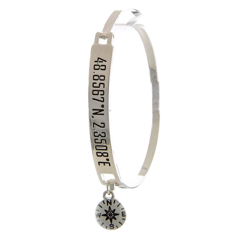 Paris Compass Charm Bracelet - Jewelry Buzz Box  - 2