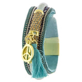 Groovy Peace Tassel Bracelet - Jewelry Buzz Box  - 2