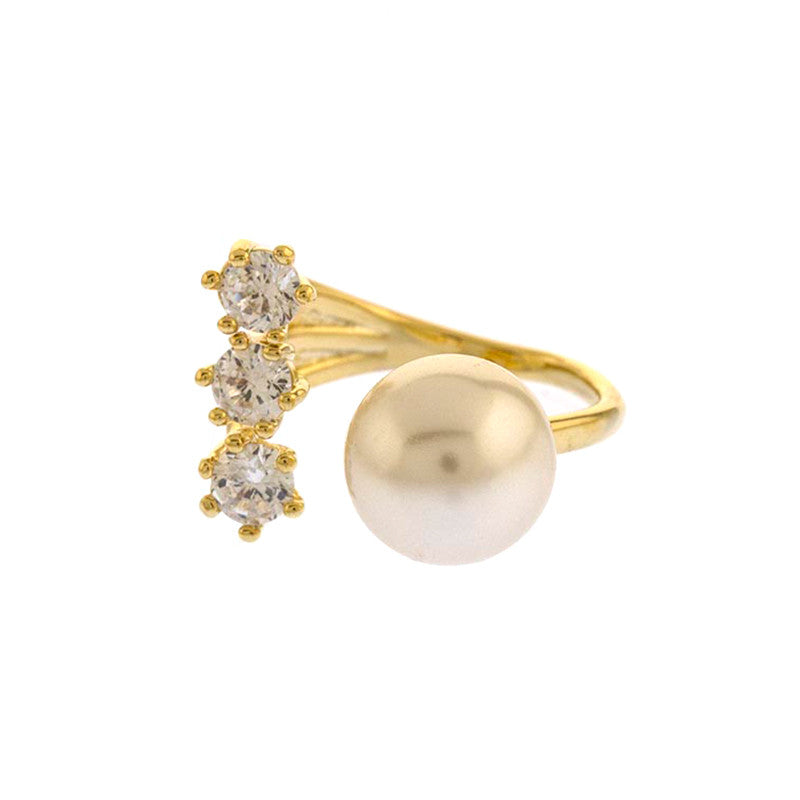 Glitz Pearl Ring - Jewelry Buzz Box  - 1