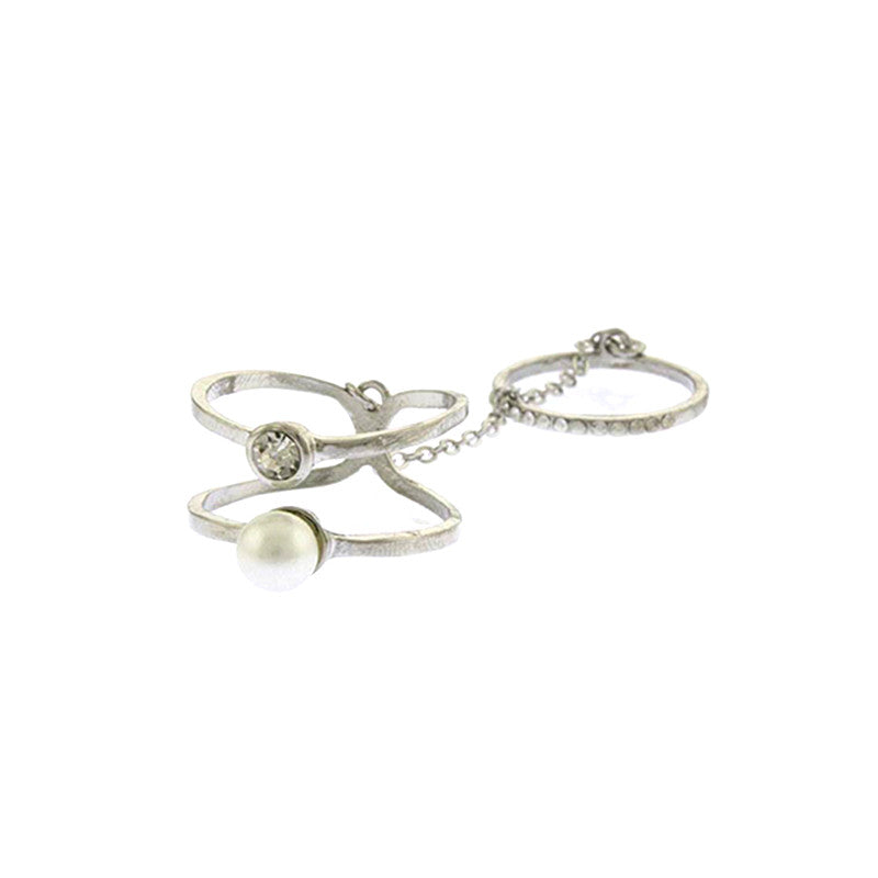 Pearly Full-finger Ring - Jewelry Buzz Box  - 2