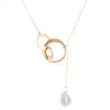 Pearl Lariat Necklace - Jewelry Buzz Box  - 2