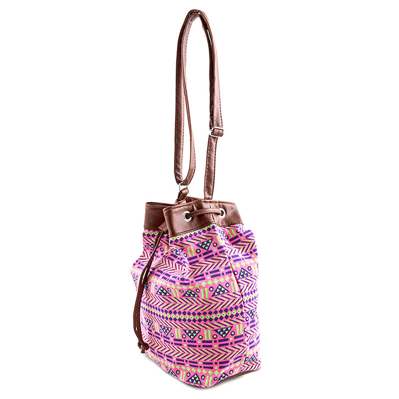 Neon Tribal Bucket Bag - Jewelry Buzz Box  - 6