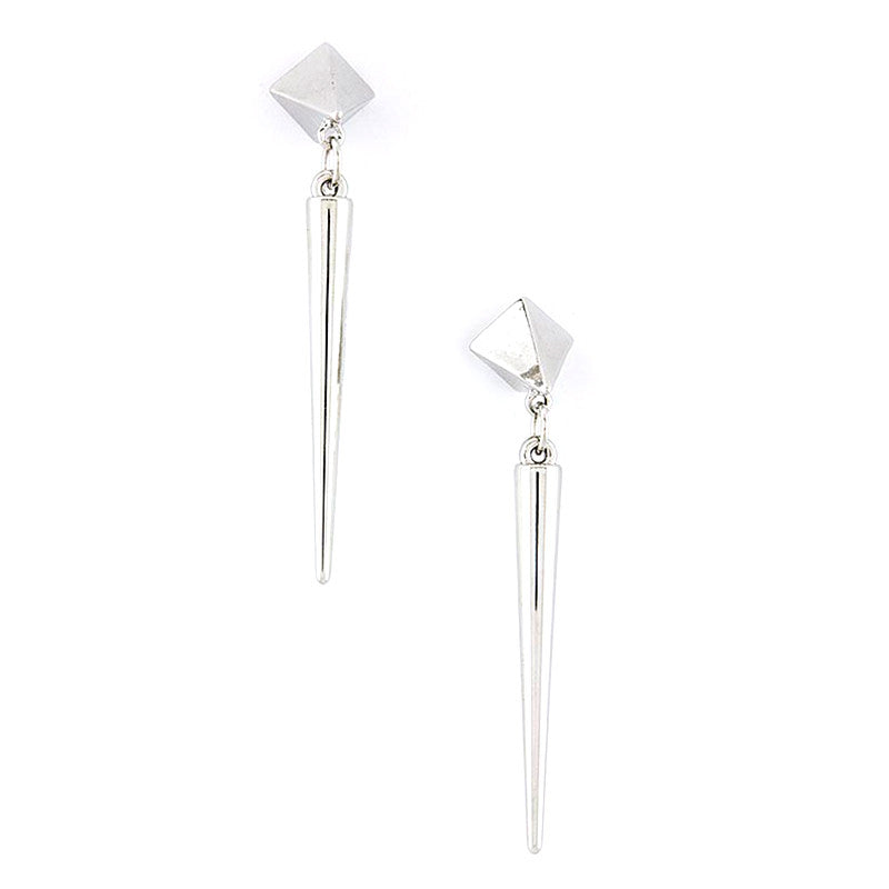 Pyramid Spike Drop Earrings - Jewelry Buzz Box  - 2