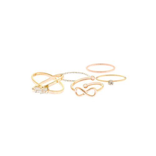 Crystal Delicate Ring Set - Jewelry Buzz Box  - 1