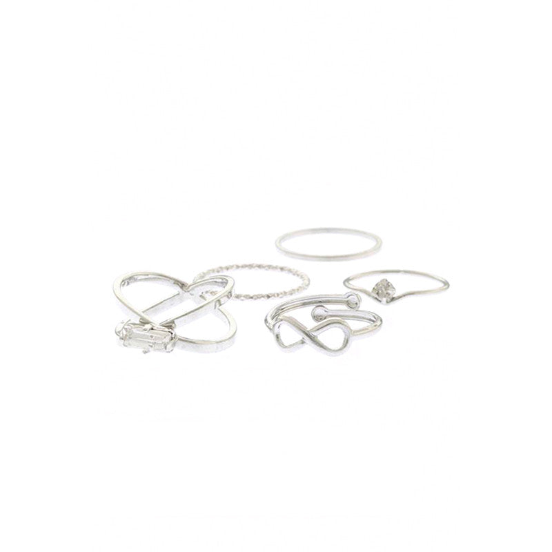 Crystal Delicate Ring Set - Jewelry Buzz Box  - 3