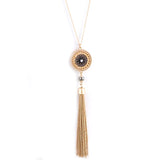 Fabulous Tassel Drop Long Necklace Set - Jewelry Buzz Box  - 1