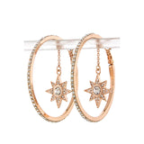 Star Drop Hoop Earrings - Jewelry Buzz Box  - 3