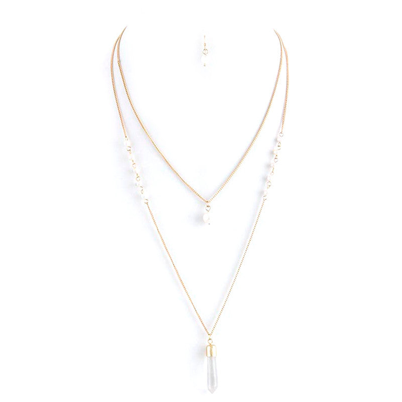 Pearl Perfection Necklace and Earring Set - Jewelry Buzz Box  - 3