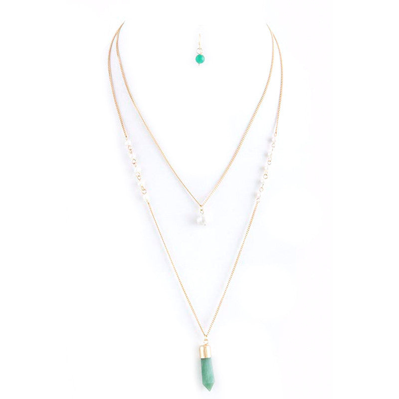 Pearl Perfection Necklace and Earring Set - Jewelry Buzz Box  - 4