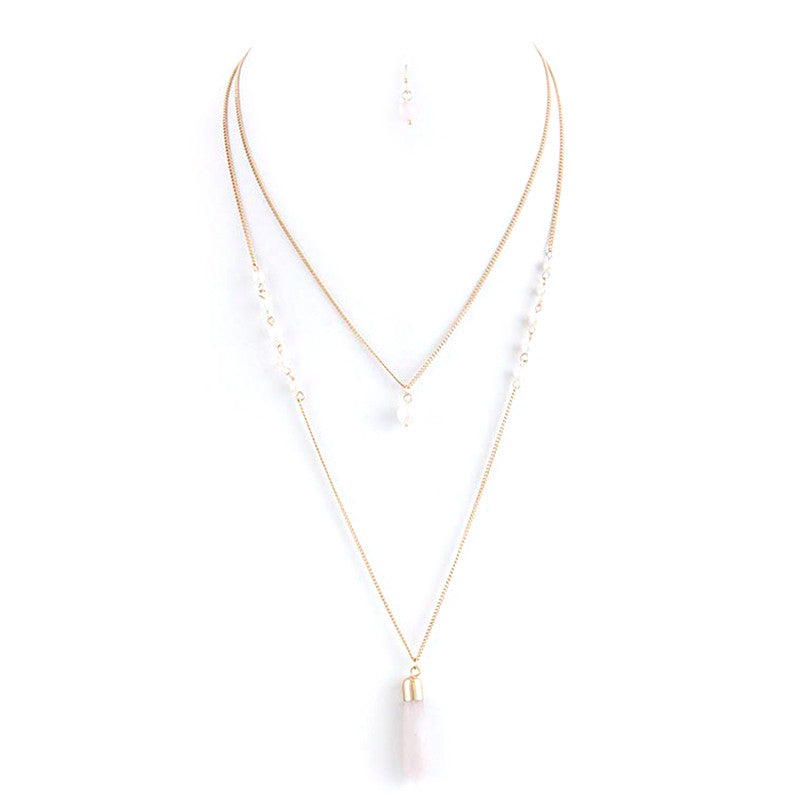 Pearl Perfection Necklace and Earring Set - Jewelry Buzz Box  - 5
