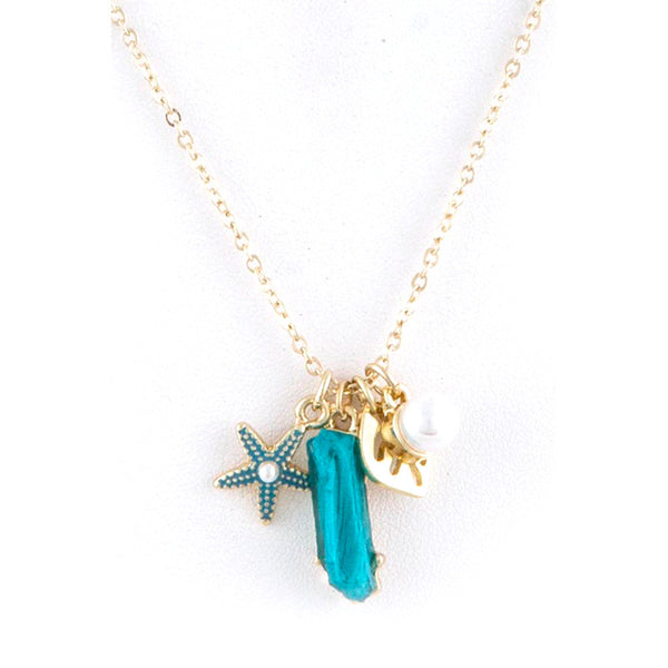 Starfish Necklace and Earring Set - Jewelry Buzz Box  - 1