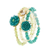 Floral Stretch Bracelet Set - Jewelry Buzz Box  - 1