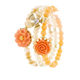 Floral Stretch Bracelet Set - Jewelry Buzz Box  - 2