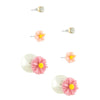 Floral Double Stud Earrings Set - Jewelry Buzz Box  - 1