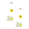 Floral Double Stud Earrings Set - Jewelry Buzz Box  - 4