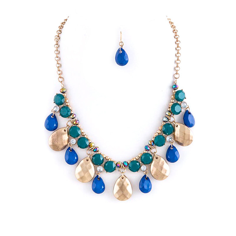 Fabulous Jewel Bib Necklace Set - Jewelry Buzz Box  - 1