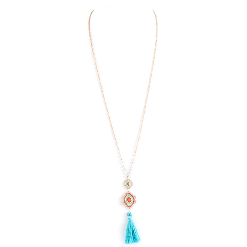 Cultural Tassel Long Necklace - Jewelry Buzz Box  - 2