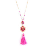 Cultural Tassel Long Necklace - Jewelry Buzz Box  - 1