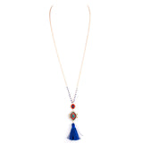 Cultural Tassel Long Necklace - Jewelry Buzz Box  - 3