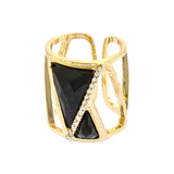 Tempt Triangle Ring - Jewelry Buzz Box  - 1