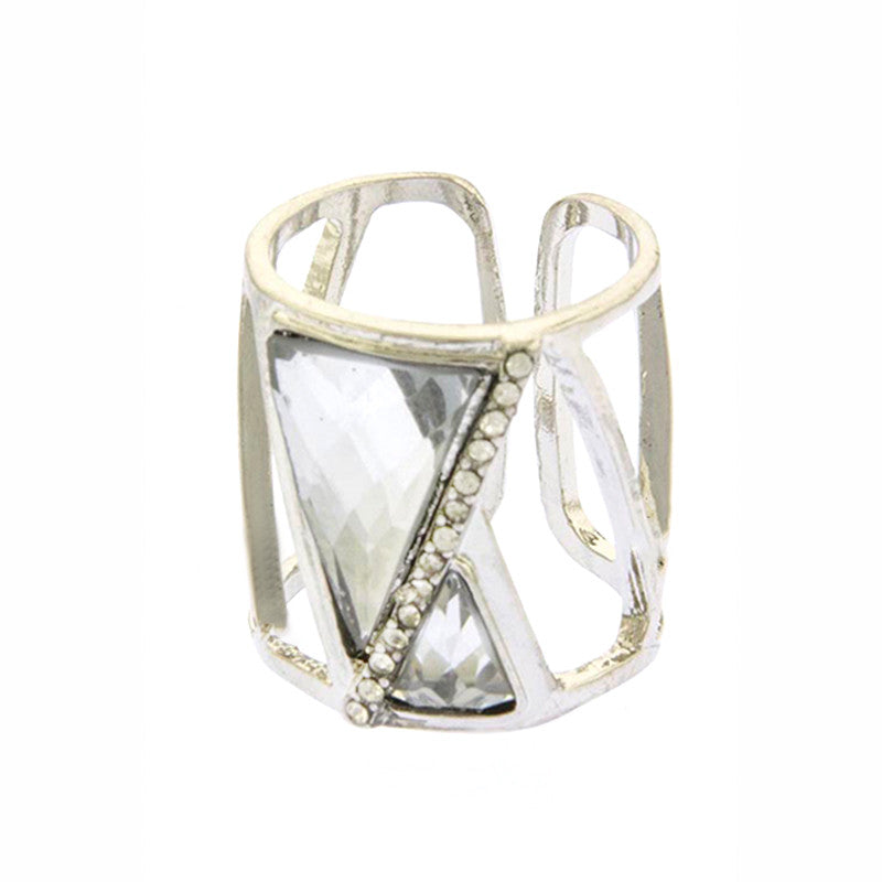 Tempt Triangle Ring - Jewelry Buzz Box  - 3