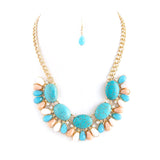 Oval Stone Necklace Set - Jewelry Buzz Box