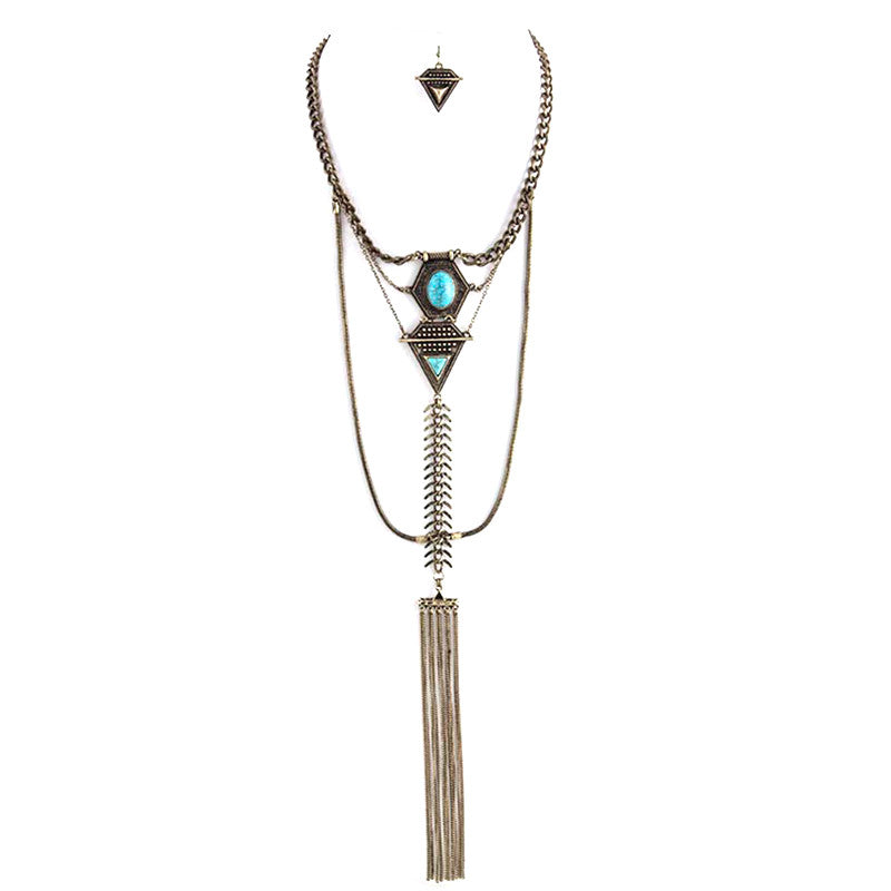 Impressive Turquoise Necklace - Jewelry Buzz Box  - 1