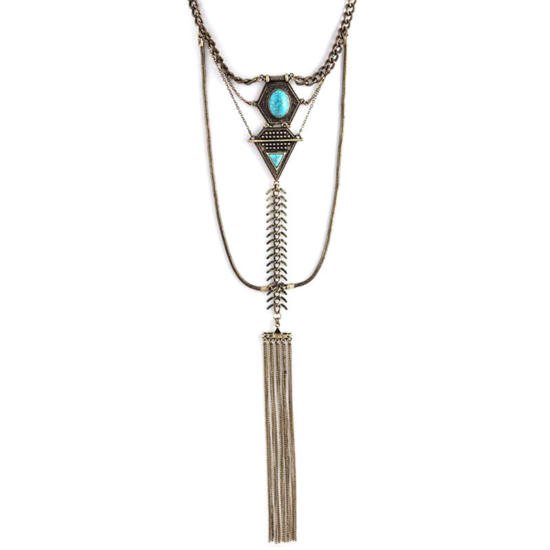 Impressive Turquoise Necklace - Jewelry Buzz Box  - 2