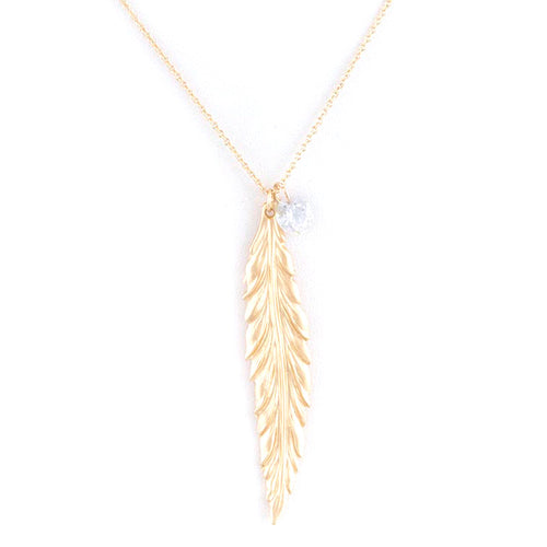 Fancy Feather Necklace Set - Jewelry Buzz Box  - 1