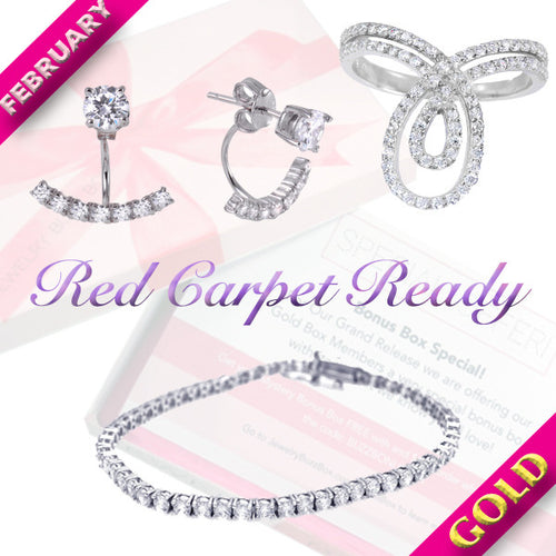 February Gold Red Carpet Box - Jewelry Buzz Box  - 1