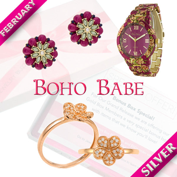 February Silver Boho Box - Jewelry Buzz Box  - 1