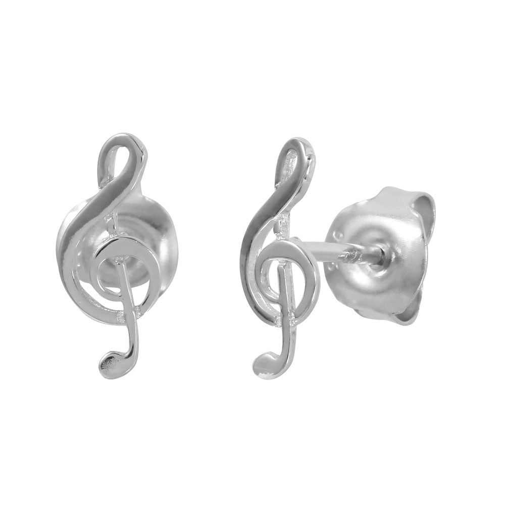 Music Note Stud Earrings - Jewelry Buzz Box