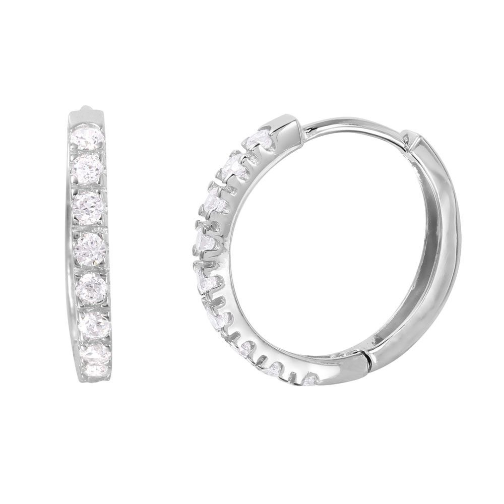 Brilliant Silver Hoop Earrings - Jewelry Buzz Box