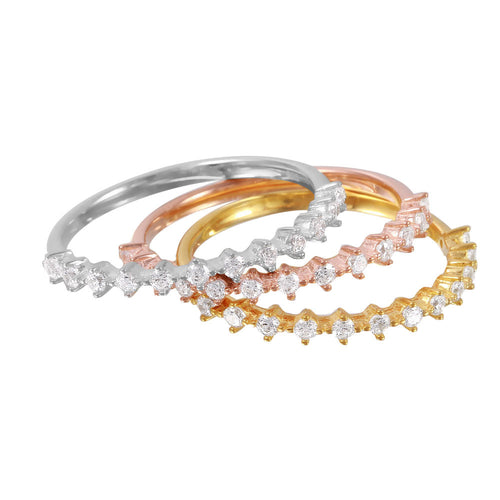 Stun And Stack Silver Ring Set - Jewelry Buzz Box  - 2