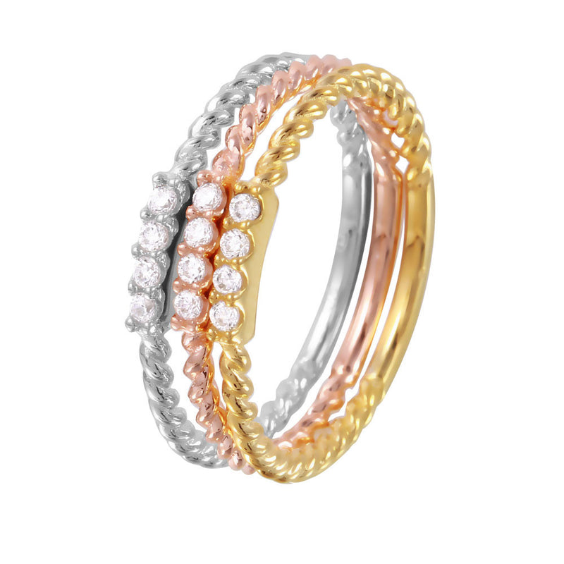 Twisted Stackable Band Set - Jewelry Buzz Box  - 1