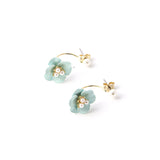 Glossy Flower Earrings - Jewelry Buzz Box  - 1