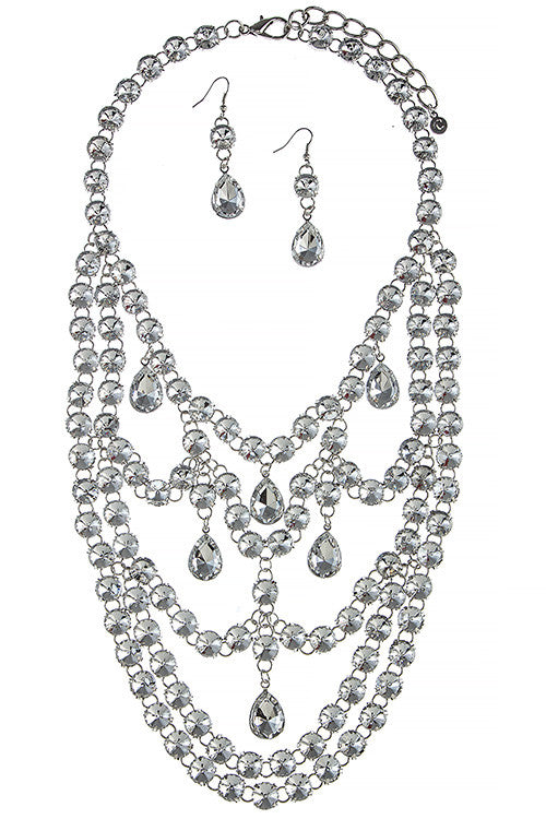 Chandelier Necklace Set - Jewelry Buzz Box  - 1