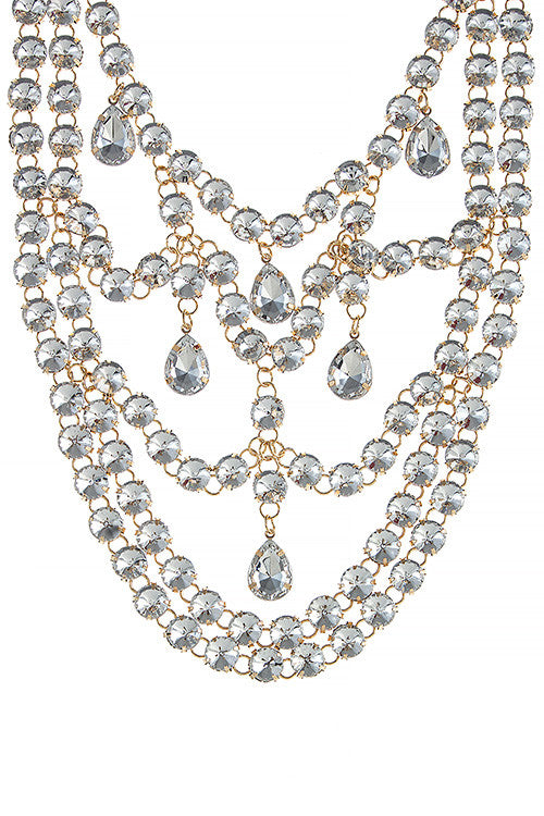 Chandelier Necklace Set - Jewelry Buzz Box  - 3