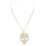 Pave Skull Necklace - Jewelry Buzz Box  - 2