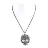 Pave Skull Necklace - Jewelry Buzz Box  - 3