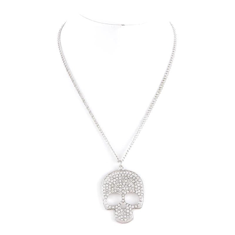 Pave Skull Necklace - Jewelry Buzz Box  - 4