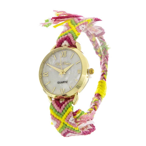Hamsa Palm Stretch Bracelet Watch