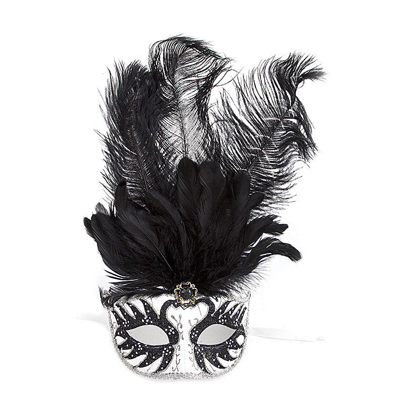 Fancy Feather Mask - Jewelry Buzz Box  - 9