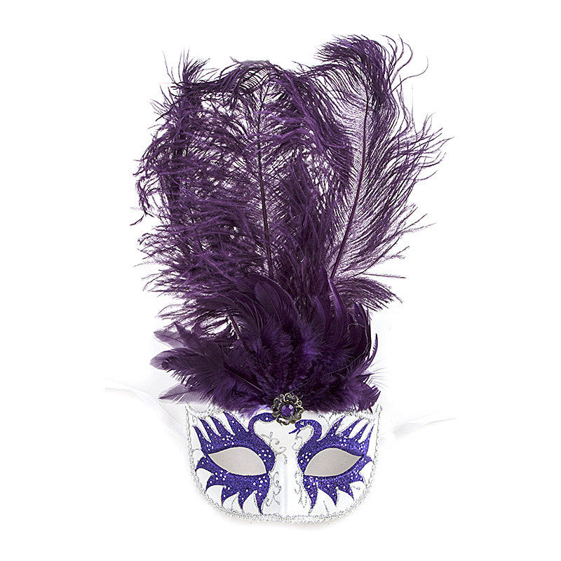 Fancy Feather Mask - Jewelry Buzz Box  - 2