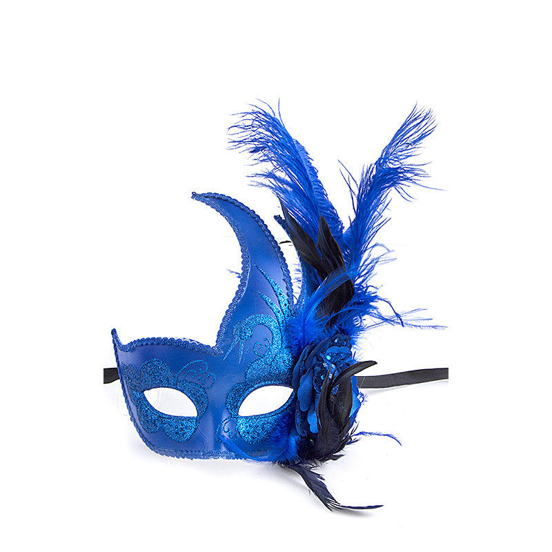 Feather Ball Mask - Jewelry Buzz Box  - 1