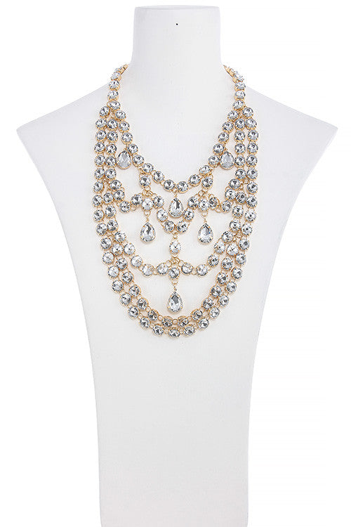 Chandelier Necklace Set - Jewelry Buzz Box  - 5