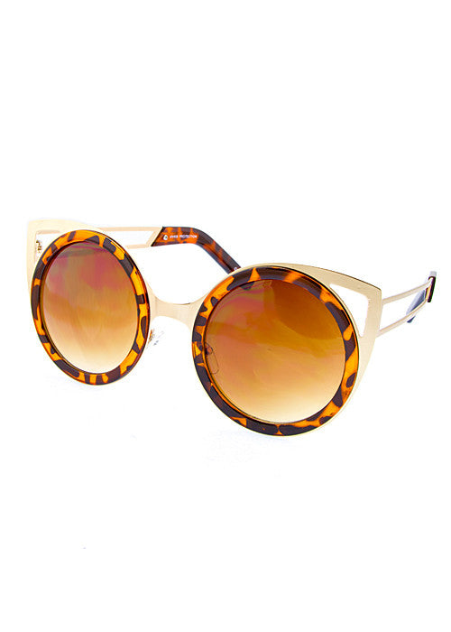 Cat Eye Cut Out Shades - Jewelry Buzz Box  - 1