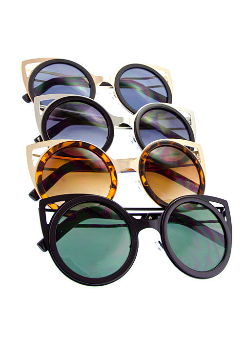 Cat Eye Cut Out Shades - Jewelry Buzz Box  - 5