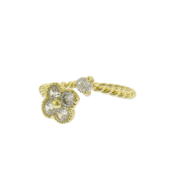 Crystal Quatrefoil Ring - Jewelry Buzz Box  - 1