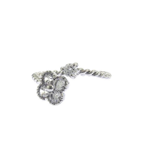 Crystal Quatrefoil Ring - Jewelry Buzz Box  - 2
